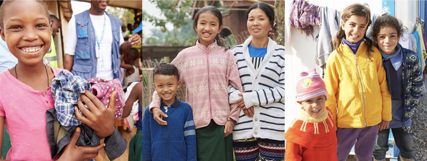 ユニクロ|サステナビリティ|衣料支援 現地フォトレポート